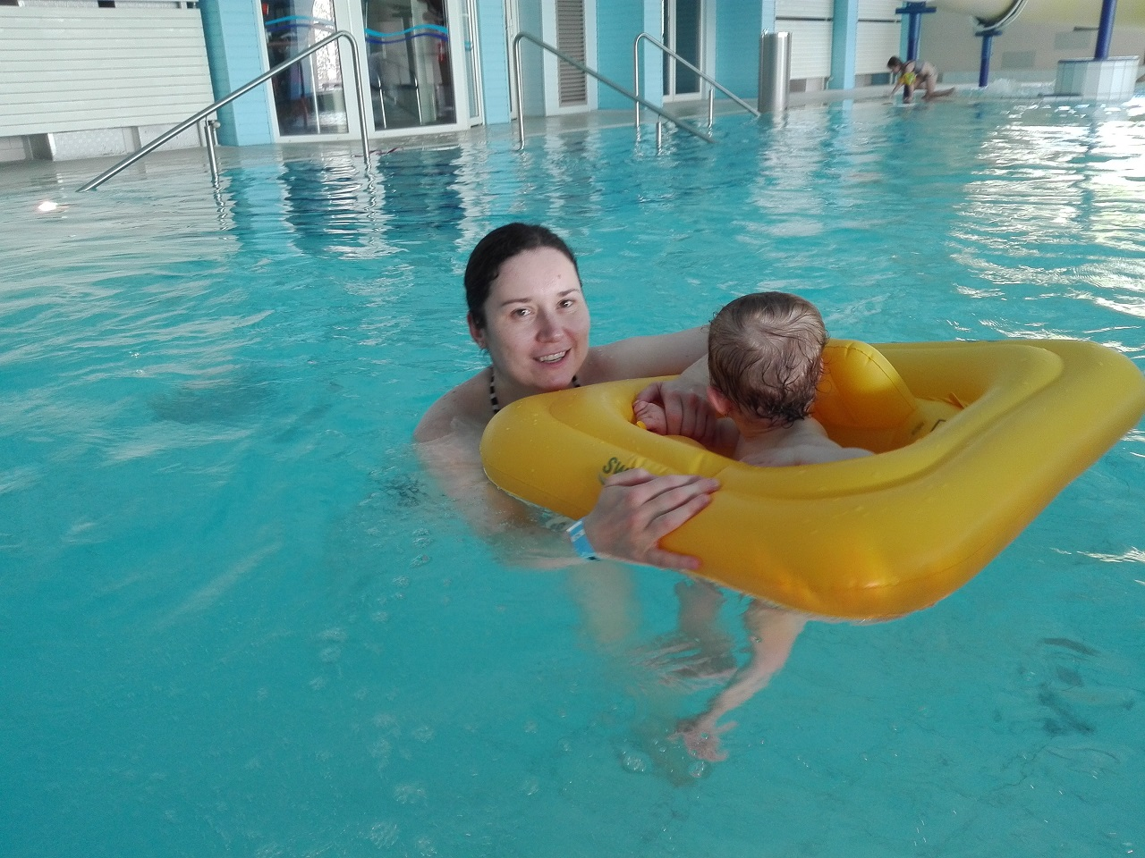 Baby's First Swimming Session